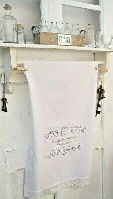 Geschirrtuch Handtuch White Vintage Shabby Landhaus Deko Grill 80x50 GroßE Auswahl;