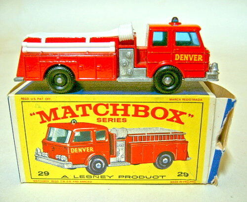 Matchbox RW 29c denver Fire Pumper como nuevo en  e1  Box