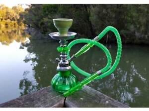 Hookah-Green-Pumpkin-Shisha-Pipe-with-Flavour-x-1-Charcoal-x-1-Mouth-Tips-x-4