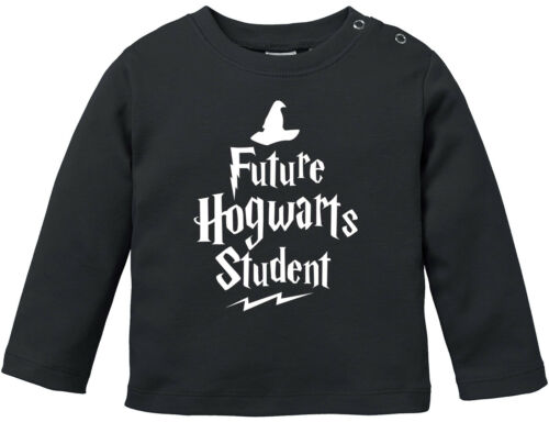 Baby Langarmshirt Babyshirt HP Hogwarts Future Student Jungen Mädchen Shirt