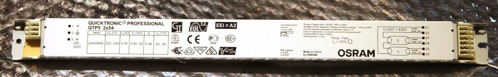 2 x Osram 1x36//230-240 Quicktronic Professional Vorschaltgerät Typ