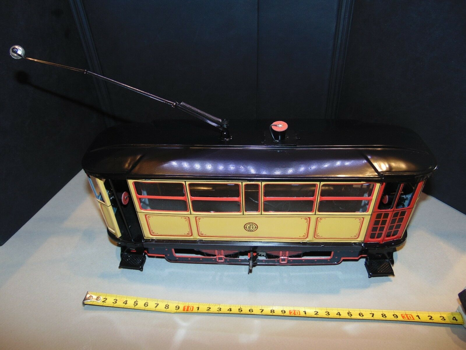 VINTAGE 1923 TRAM TRAM TRAM LITHOGRAPHY TIN TOY 1993 REPRO PAYA RARE LARGE SCALE eee0d1