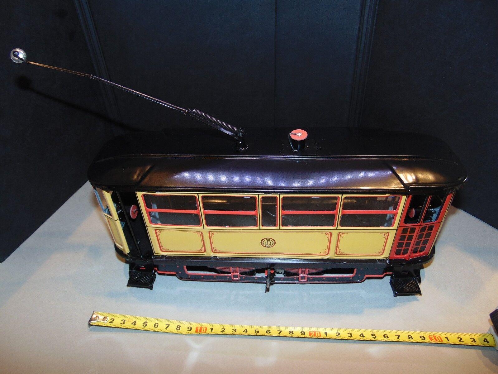 Vintage 1923 tranvía litografía de estaño de juguete 1993 Reproducción Paya   849 Raro a gran escala