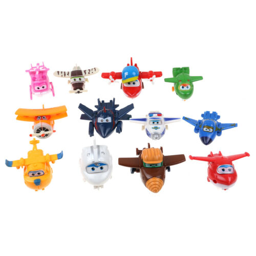 4//8//12Stk Super Wings Mini Transform Flugzeuge Spielzeug Weihnachten Geschenk