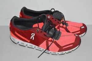 Details about QN On Cloudtec Mens Running Shoes Swiss Engineering Red/Pink  Size 12 M QN