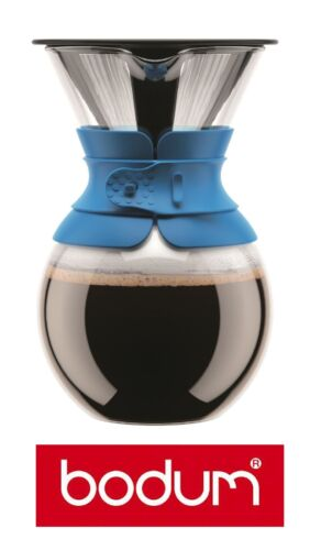 "Bodum Pour Over /""Blau/"" Kaffeebereiter mit Permanentfilter 1,0 Liter Kaffeefilter"
