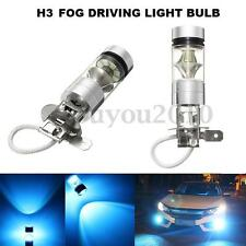 2x H3 2323 100W 20 LED Ice Blue Projector Fog Driving Light Bulb Lamp DRL 12V