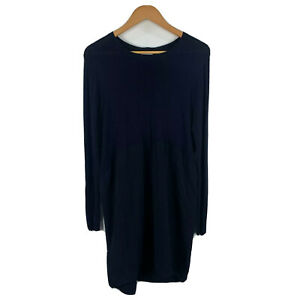 Witchery-Womens-Dress-Size-Small-Navy-Blue-Long-Sleeve-Boat-Neck-Gorgeous