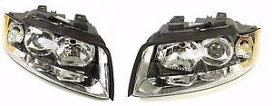 NEW-GENUINE-Audi-A4-S4-Headlight-SET-Left-Right-Head-Light-B6-8E-Xenon-DRL-05-07