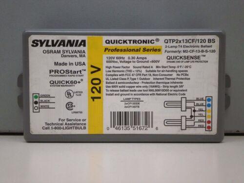 2 13W CF13DDE Lamp Sylvania QTP2x13CF//120 BS Compact Fluorescent Ballast for