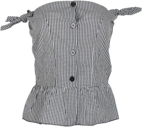 Gingham Up Bluse Shirt Rockabilly Toofast Sandra Vintage Pin Z4q1cwI