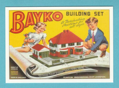 ADVERTISING BAYKO  BUILDING  SET ROBERT  OPIE  POSTCARD