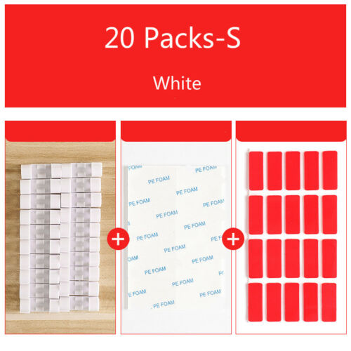 16//20 Packs of Cable Organizer Wall Self-adhesive Clip Wire Holder Line Buckle