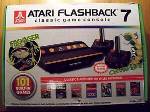 Atari Flashback 7 Classic Game Console Wireless Controllers New