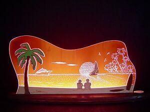 3d led arco di luci plexiglas arcata con legno mare del sud palma