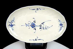 """VILLEROY & BOCH VIEUX LUXEMBOURG PATTERN EMBOSSED SWIRL 9 1/4"""" PICKLE DISH 1983"""