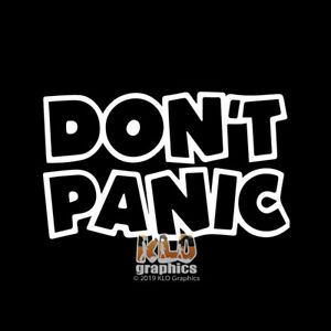 DON-039-T-PANIC-vinyl-sticker-OFF-ROAD-Outdoors-4x4-for-JEEP-WINDOW-TRUCK-FORD-CHEVY