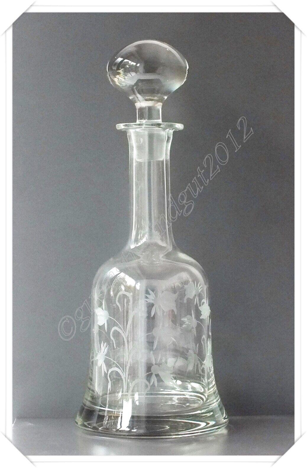 EDEL - Glas Karaffe mit Stöpsel Whisky Cognac Brandy Sherry Likör Tiefen Schliff