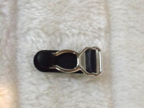 1 pince Porte Jarretelle à l/'unité fabrication rechange métal plastique noir