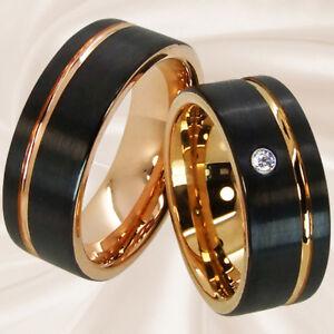 Trauringe für Hochzeit Partnerschaft Freundschaft aus Wolfram mit Wunschgravur