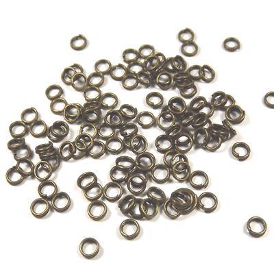 200 Anneaux De Jonction 4mm Doubles Connecteurs Ouverts En Métal Couleur Bronze