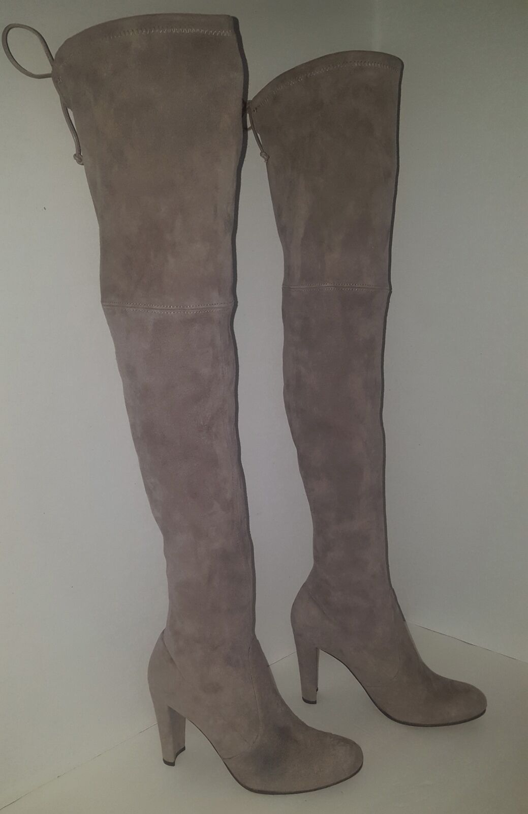 Stuart Weitzman Highland Over The Knee Topo (Taupe ) Stiefel Sz 8