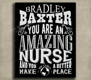 Details About Nurse Amazing Custom Plaque Tin Sign Gift For RN LPN Hospital Worker Male Nur