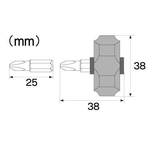 Profil bas stubby ratchet Palm Pilote tournevis squat court dr-54