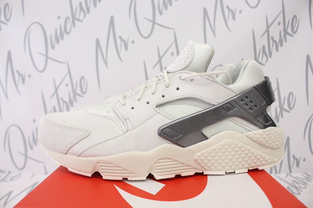 NIKE AIR HUARACHE HUARACHE HUARACHE RUN PREMIUM SZ 10 LIGHT BONE METALLIC COOL GREY 704830 013 5ff28d