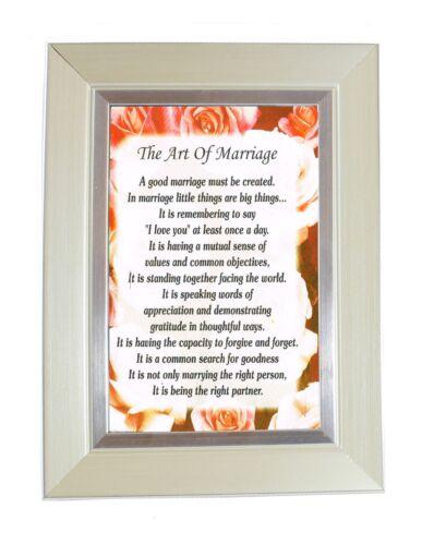 """6/"""" x 4/"""" Frame-Anniversaire de Mariage Mariée Mr /& Mrs cadeaux L/'art de mariage"""