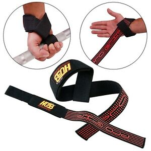 BODY-BUILDING-WEIGHT-BAR-HARD-GRIP-CROSSFIT-STRAP-WRIST-SUPPORT-WRAPS-GYM-GLOVES