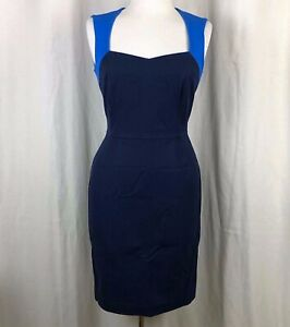 Banana-Republic-Blue-Color-Block-Sheath-Dress-Size-4-NWT