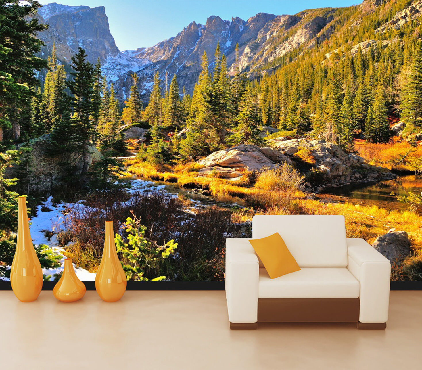 3D Autumn water 3453 Wall Paper Wall Print Decal Wall Deco Indoor Wall Murals