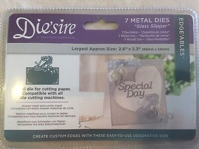 33Die/'sire Edge/'ables Glass Slipper Die by Crafter/'s Companion NEW