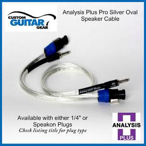 Analysis-Plus-Pro-Silver-Oval-Speaker-cable-2FT-Length-Speakon-Plugs