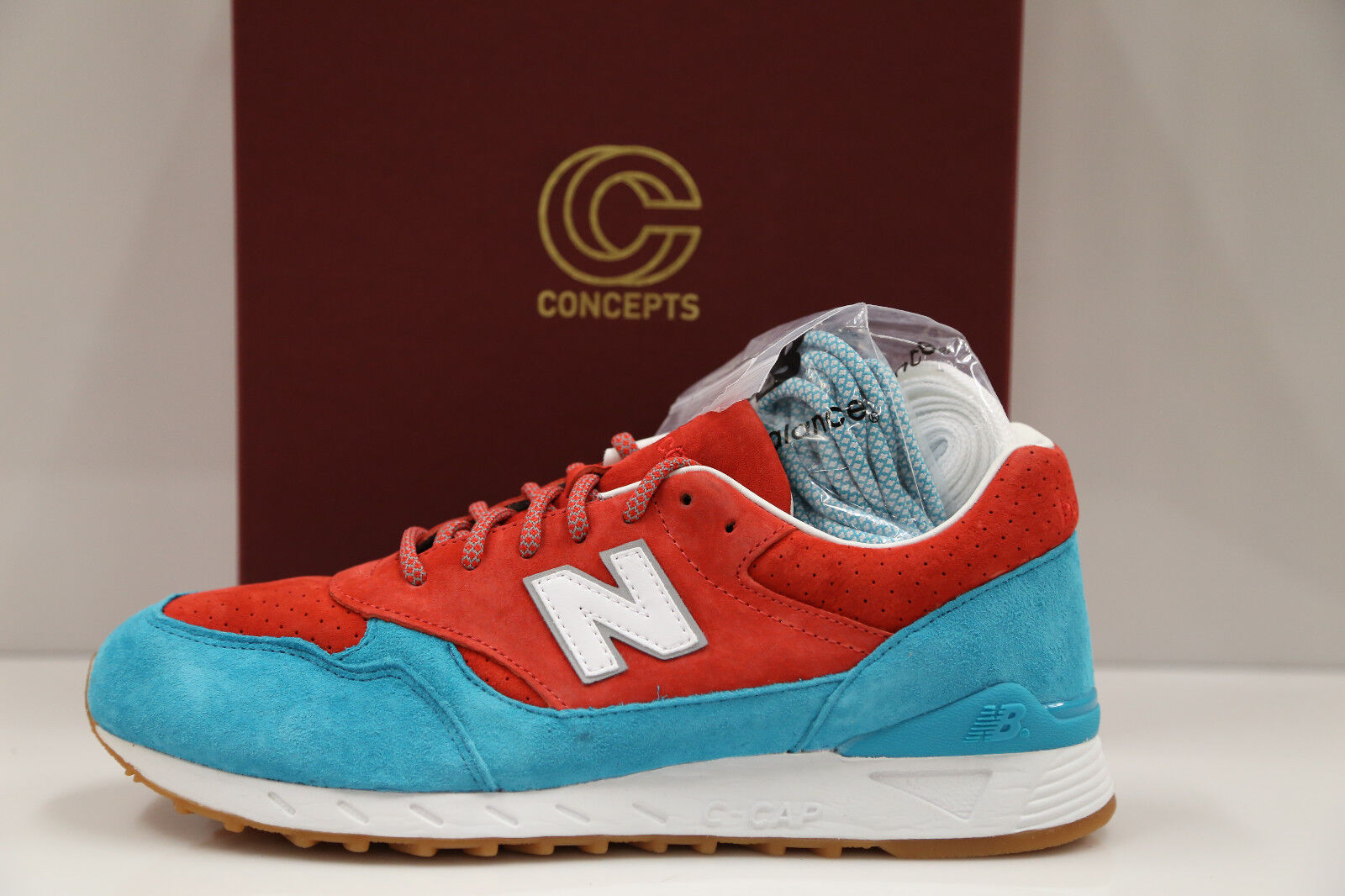 New Balance X Concepts 496 Regatta Pool bluee Special Box Edt 7-11 11.5-13 997