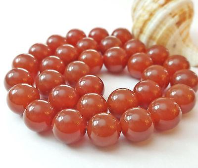 NELLYS Karneol Strang Perlen Orange Weiß Edelsteine Schmuck basteln