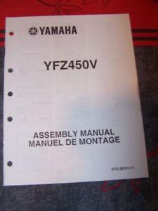 Audacieux 1r - Notice/manuel Montage/assemblage Supplement Yamaha Moto Yzf450v Yzf 450 V Excellente Qualité