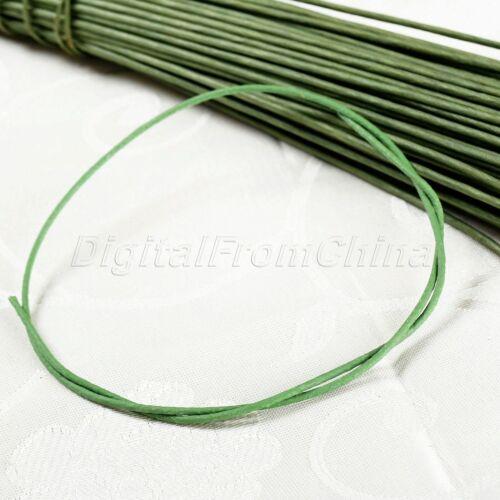 60 cm vert Stub Tiges papier recouvert de fil de fer pour Fleur Making Rose À faire soi-même Décor