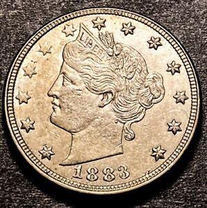 1883 Liberty V Nickel 5c RPD FS-1302 Variety 1883/1883 No Cents High Grade UNC