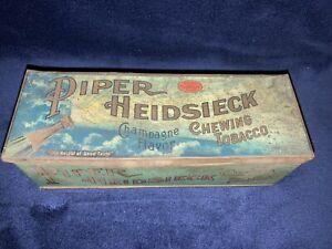 Antique-1910-s-Piper-Heidsieck-Champagne-Flavor-Tobacco-Tin-Louisville-Kentucky