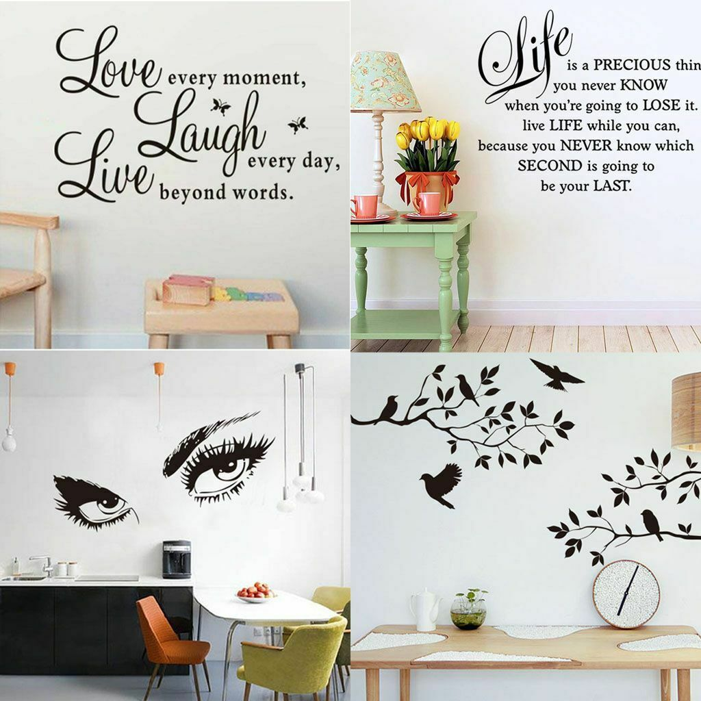 Vinyl Art Room Decor Quote Wall Decal Sticker Bedroom Mural Removable DIY T9M6