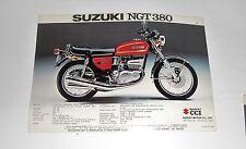 SUZUKI NGT 380 e GT 550  scheda pubblicitaria concessionaria MOTO