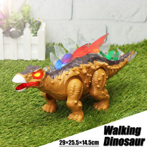 Walking Dinosaur Stegosaurus Toy Figure with Lights Up & Sound &Movement  Toy