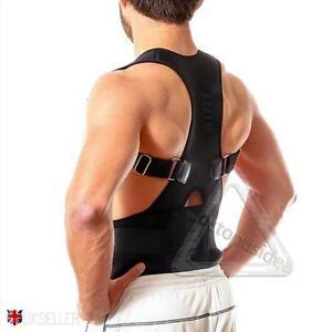 La imagen se está cargando Postura-Corrector-Apoyo-Magnetico-Espalda-Hombro -Abrazadera-Cinturon 939b8a47b72f