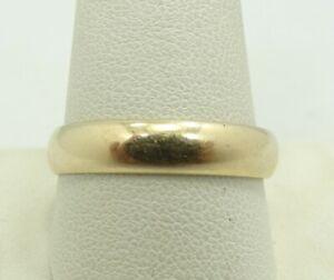 14k Gelbgold Gewölbter Ehering Größe 11.5 4mm 4.1 Gramm M239 Ein Unbestimmt Neues Erscheinungsbild GewäHrleisten