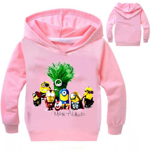 Minions Kinder Jungen Baumwolle Hoodies Kapuzenpullover Freizeit Sweatshirt