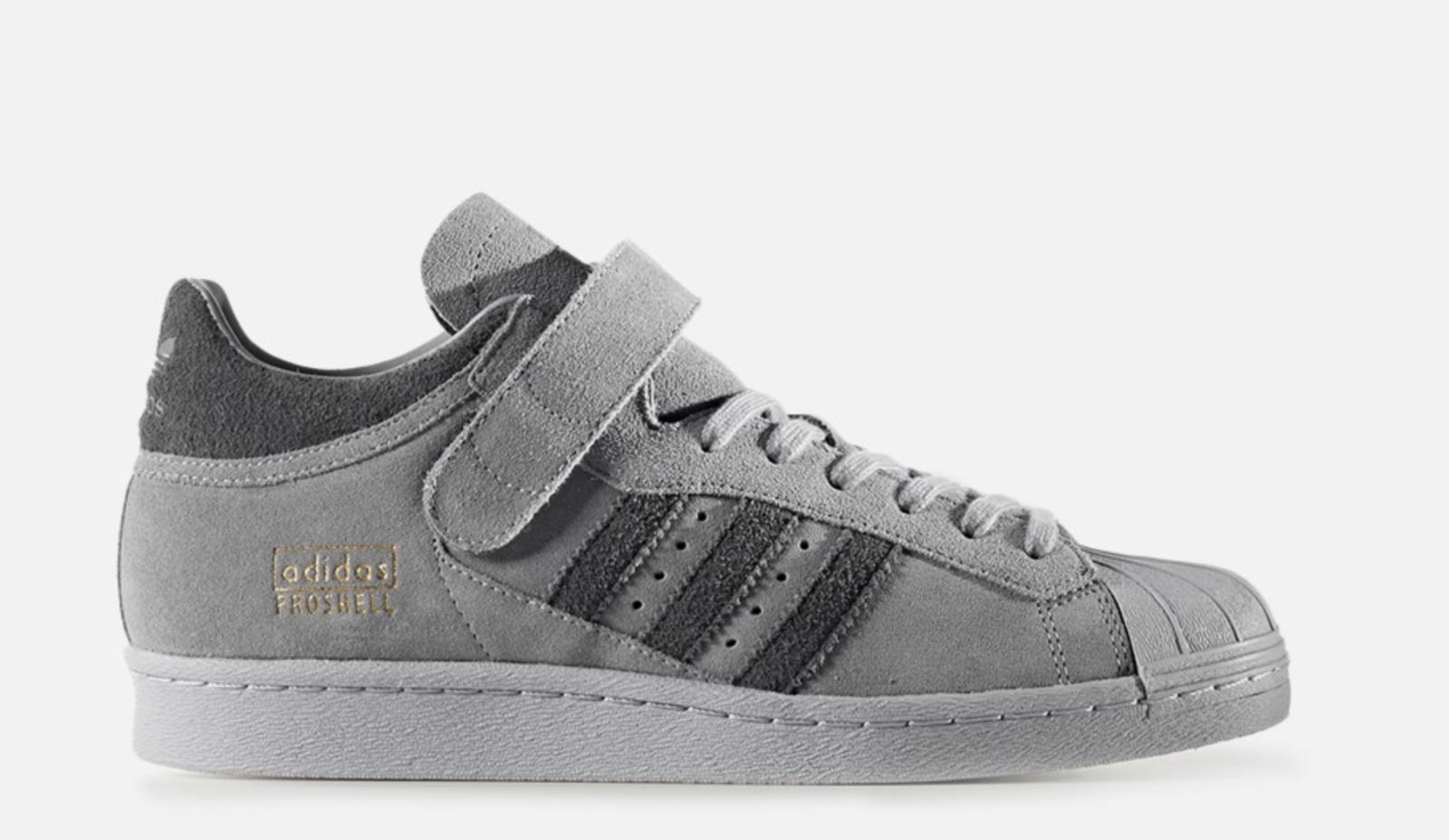 NEW adidas PRO SHELL BZ0210 Grey Mens Casual shoes Shelltoe s1