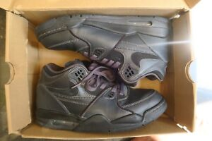 best cheap 00076 d452d Image is loading Nike-Air-Flight-89-Triple-Black-Anthracite-Black-
