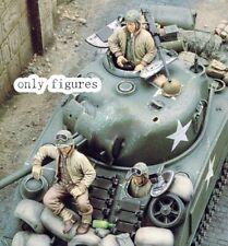 1//35 Resin WW2 4 US Tankers Tank Crew Unpainted Unbuild BL527